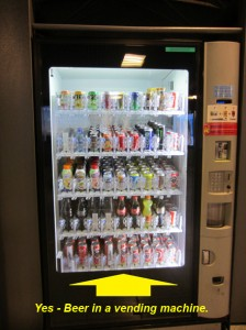 Beer in a Vending Machine