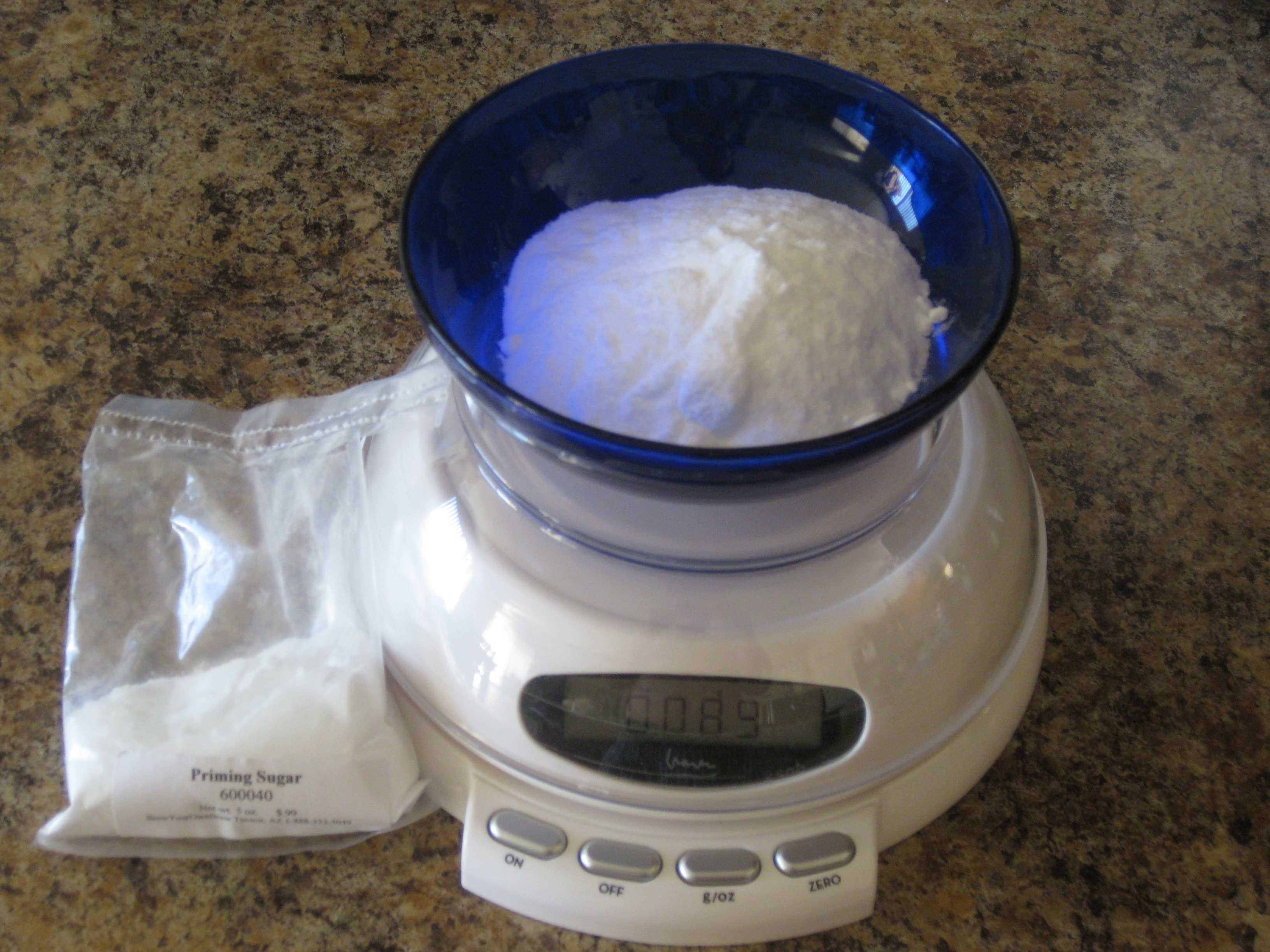 Weighing Priming Sugar with a Digital Scale