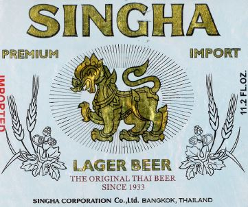 Singha Beer Label