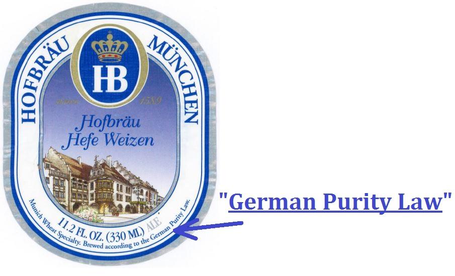 German Reinheitsgebot