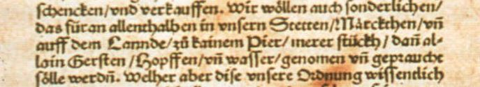 Original Reinheitsgebot of 1516