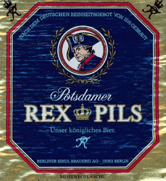 Potsdamer Rex Pils - Berliner Kindl Brauerei