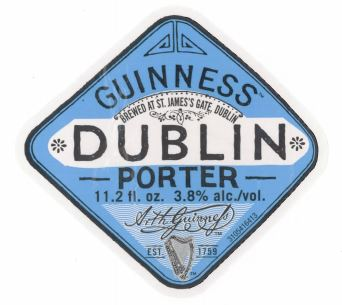 Guinness Dublin Porter Label