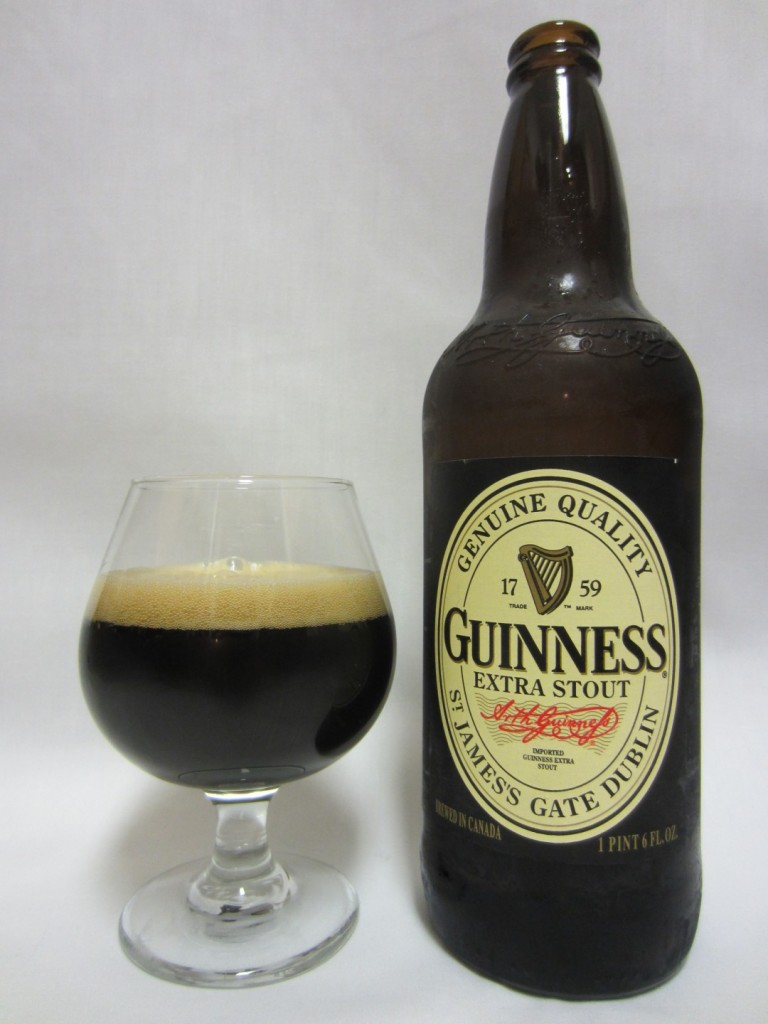 Guinness Extra Stout in glass