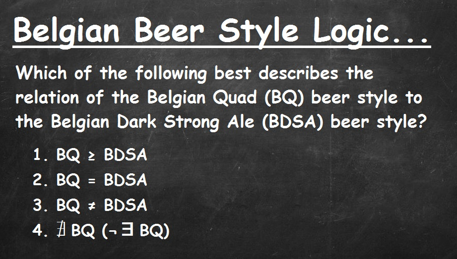 Belgian Quad and Belgian Dark Strong Ale