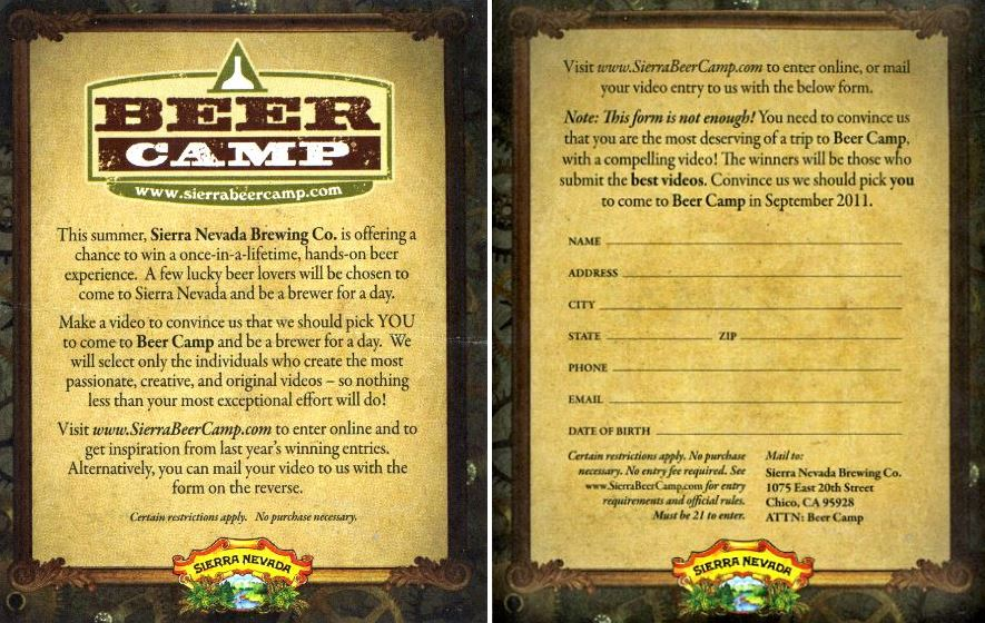 Beer Camp Entry Form
