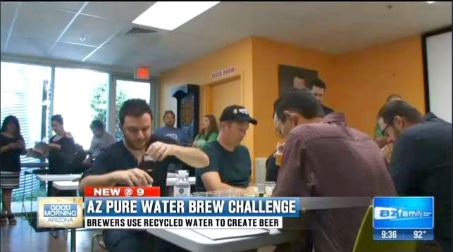 Daniel J. Leonard Judging Beer in AZ Pure Water Brew Challenge