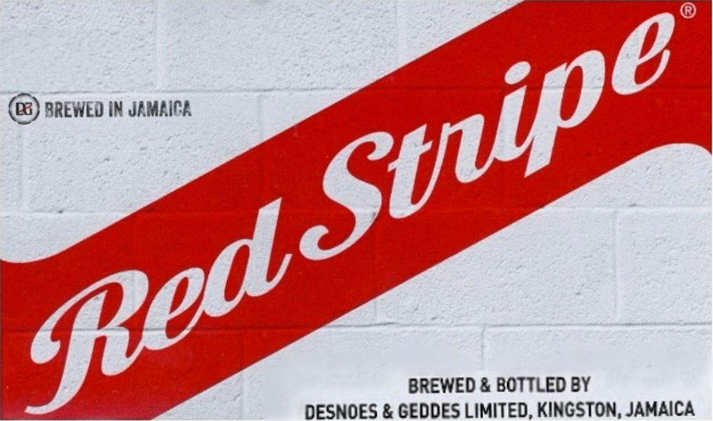 Red Stripe: Brewed & Bottled by Desnoes & Geddes Limited, Kingston, Jamaica