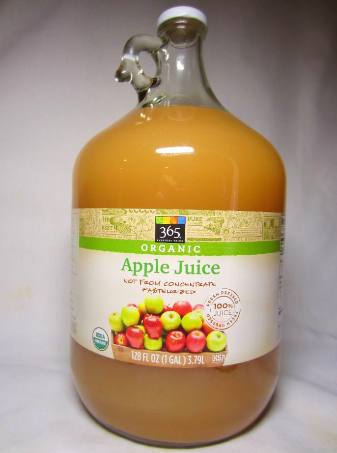 365 Everyday Value (Whole Foods) Organic Apple Juice, 100% Juice