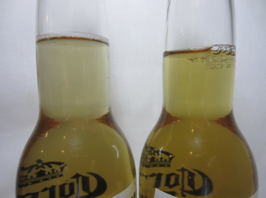 Change in the Color of a Frozen Beer