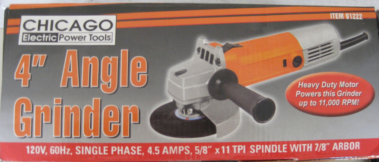 Chicago Electric Power Tools Angle Grinder