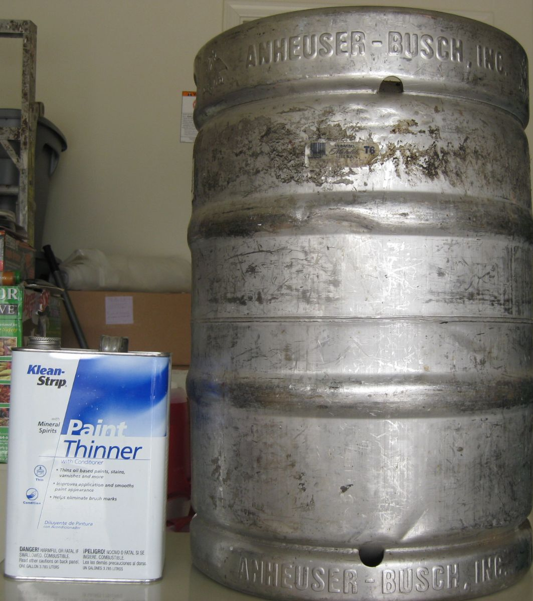 Paint Thinner on Beer Keg
