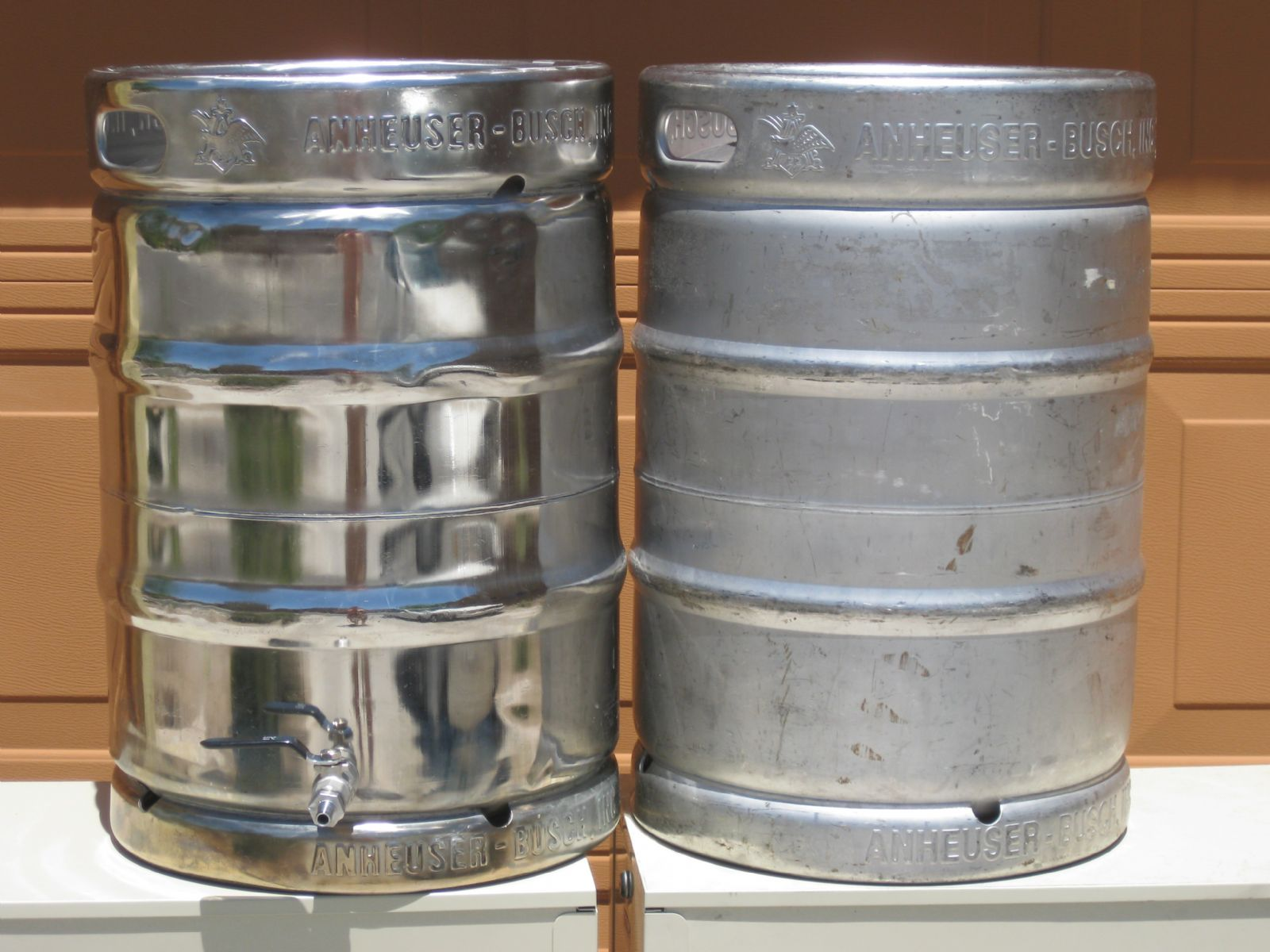 Polished Keg Before and After