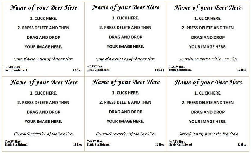 how to make label template in word