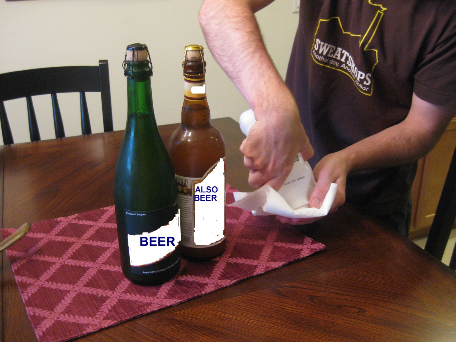 Sanitizing Beer Bottle with Rubbing Alcohol