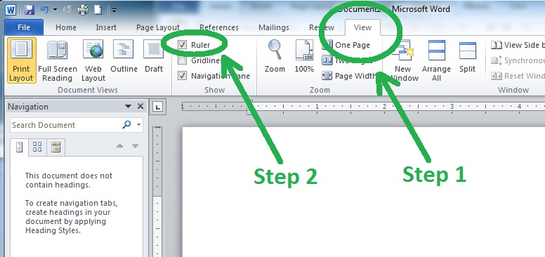 Adjusting the Text Box Size with the Ruler Function in Microsoft Word