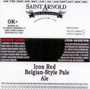 Saint Arnold Brewing Company Icon Red Belgian Style Pale