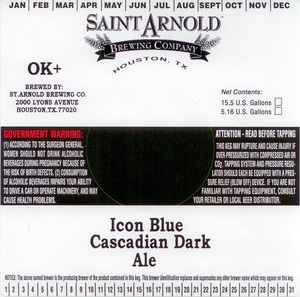 Saint Arnold Brewing Company Icon Blue Cascadian Dark