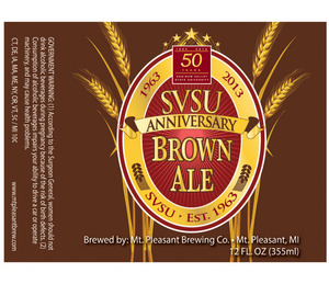Mt. Pleasant Brewing Co. Svsu Anniversary Brown Ale January 2013