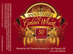 Mt. Pleasant Brewing Co. Svsu Anniversary Golden Wheat Beer