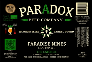 Paradox Beer Company Inc The Catcher