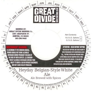 Great Divide Brewing Company Heyday