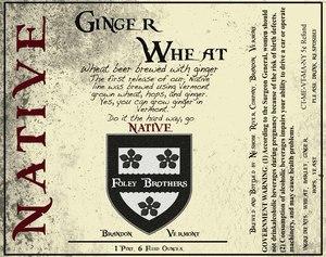 Neshobe River Company Ginger Wheat