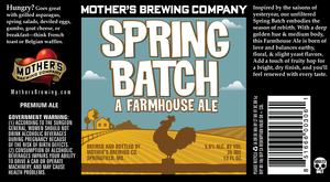 Mother's Brewing Company Spring Batch