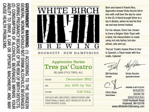 White Birch Brewing Tres Pa Cuatro
