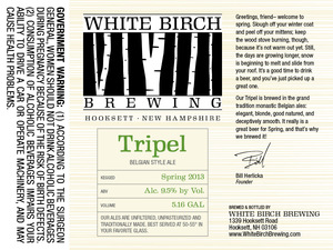 White Birch Brewing Tripel