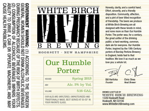 White Birch Brewing Humble Porter