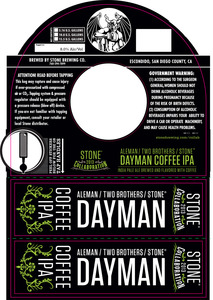Stone Dayman Coffee IPA January 2013