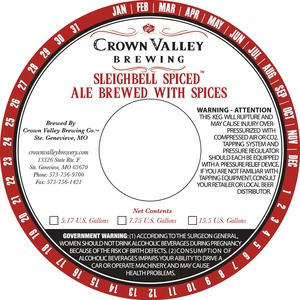 Crown Valley Brewing Sleighbell Spiced