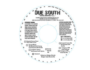 Due South Brewing Co Bodacious Belgian Blonde