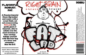 Right Brain Brewery Fat Lad