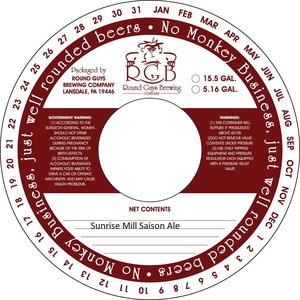 Sunrise Mill Saison January 2013