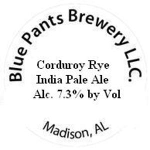 Blue Pants Brewery Corduroy Rye