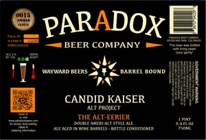 Paradox Beer Company Inc The Alt-eerier
