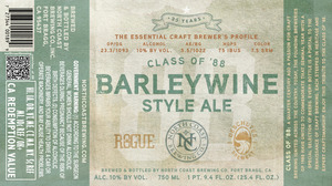 North Coast Brewing Co. Class Of '88