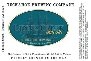 Tuckahoe Brewing Company Dennis Creek