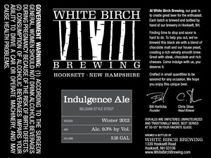White Birch Brewing Indulgence