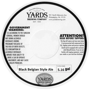 Yards Brewing Company Black Belgian Style Ale