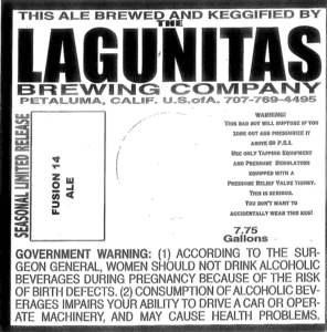 The Lagunitas Brewing Company Fusion 14