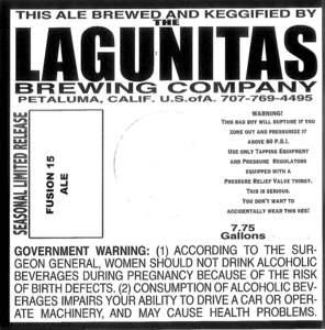 The Lagunitas Brewing Company Fusion 15