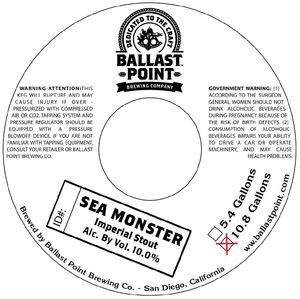 Ballast Point Brewing Company Sea Monster