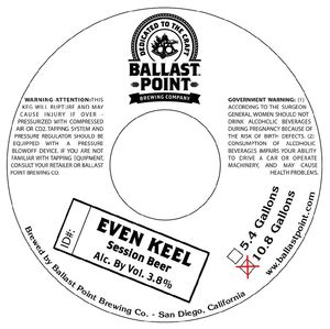 Ballast Point Brewing Comapny Even Keel