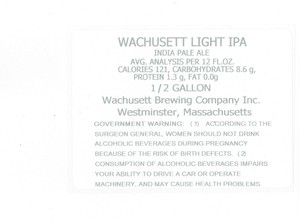 Wachusett Brewing Company, Inc. Wachusett Light IPA