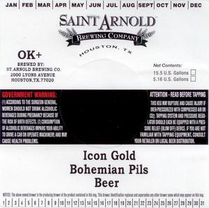 Saint Arnold Brewing Company Icon Gold Bohemian Pils