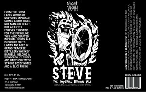 Right Brain Brewery Steve The Imperial Brown Ale