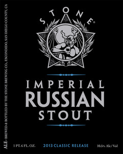 Stone Imperial Russian Stout January 2013